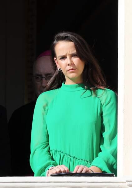 Pauline Ducruet au balcon du palais lors de la fête nationale monégasque