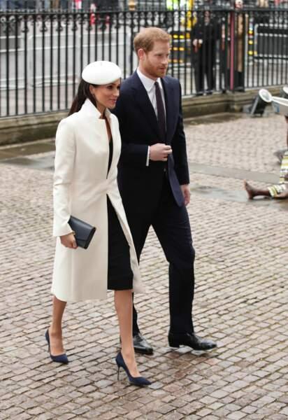 Prince Harry et Meghan Markle arrivent pour la cérémonie du Commonwealth