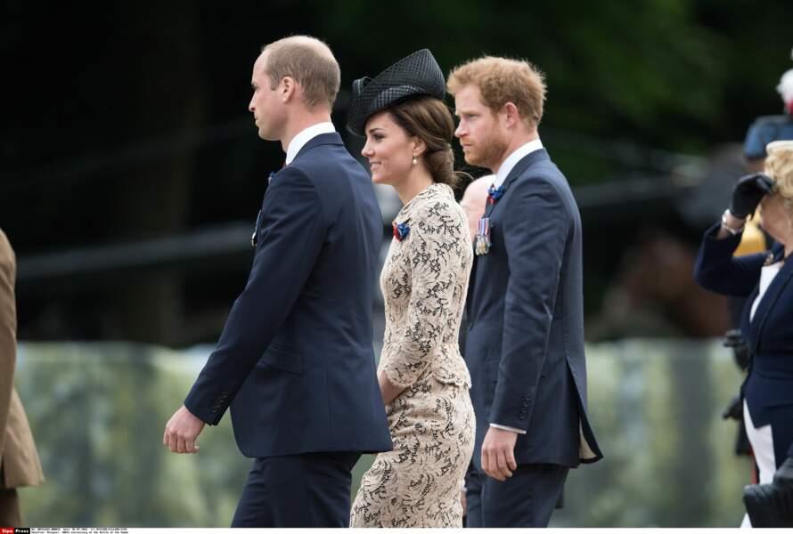 Elle a pu compter sur le soutien de son mari le Prince William et de son beau-frère, le prince Harry