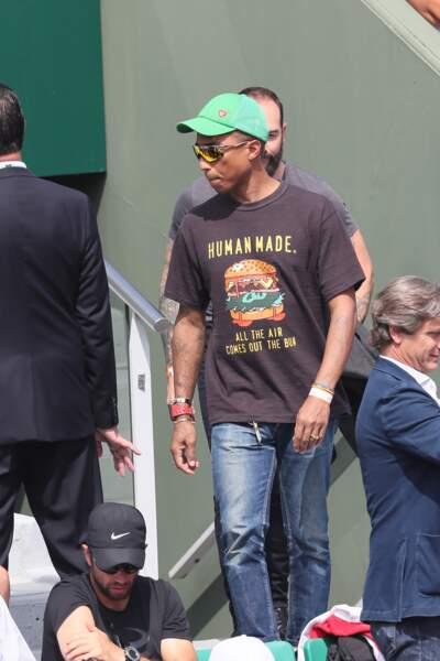 Pharrell Williams à Roland-Garros