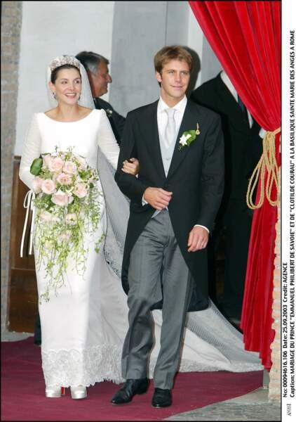 Mariage du Prince Emmanuel Philibert de Savoie et Clotilde Courau à Rome,  le 25 septembre 2003