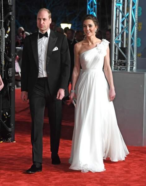 William et Kate arrivent à la 72ème cérémonie annuelle des BAFTA Awards à Londres, le 10 février 2019