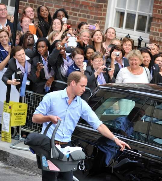 La calvitie du prince William était déjà apparente.