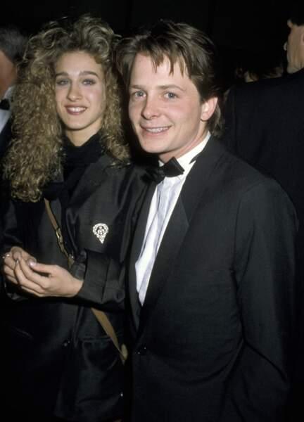 Michael J. Fox et Sarah Jessica Parker à Los Angeles en 1986
