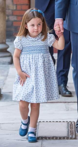 La princesse Charlotte au baptême du Prince Louis