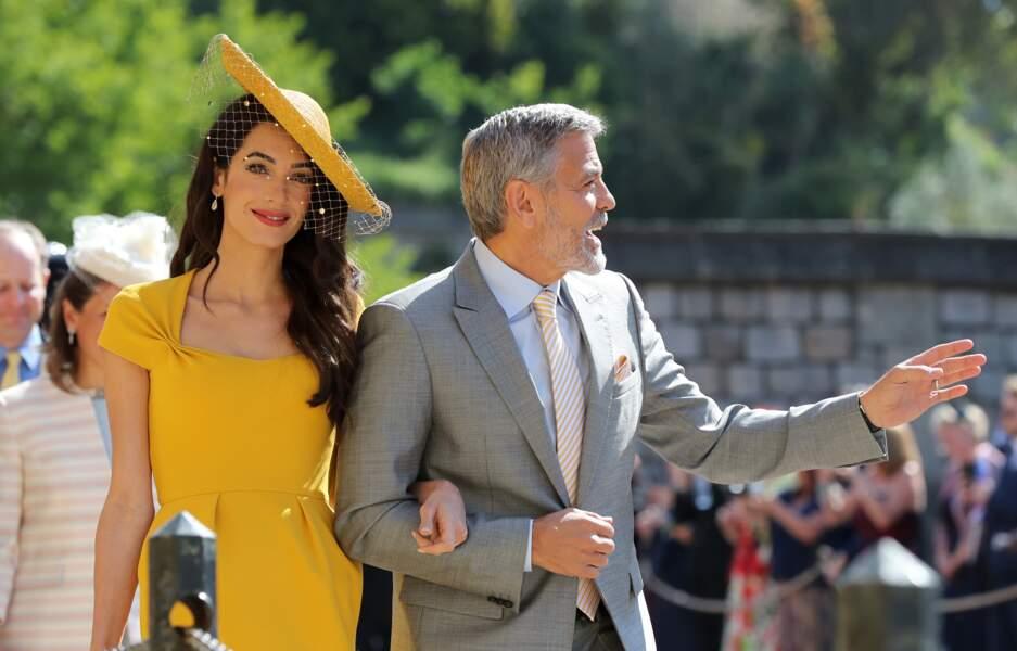 """Les Clooney au comble de l'élégance pour le """"royal wedding"""""""