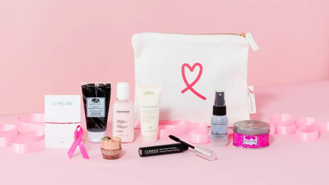Box Birchox Octobre Rose, 34 € dont 100%d es ventes sont  reversés contre le cancer du sein