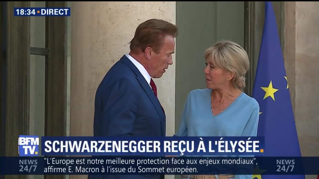 Arnold Schwarzenegger à l'Elysée a discuté écologie avec le président
