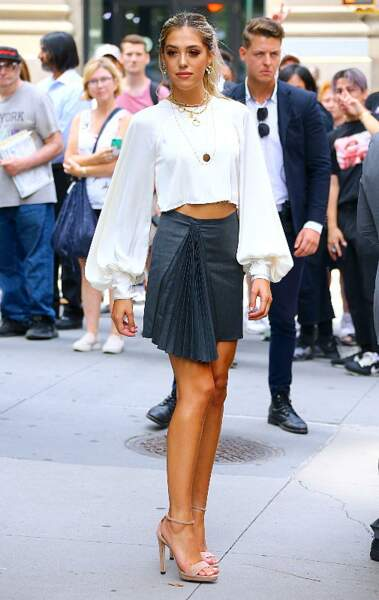 Sistine Stallone, de pied en tête, affiche une silhouette fine à New York