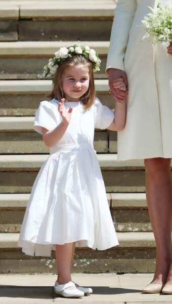Charlotte enfant d'honneur de Meghan et Harry