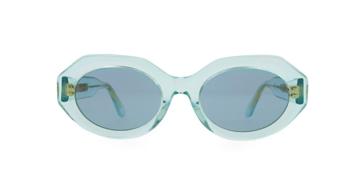 Perçantes, lunettes transparentes Emmanuelle Khanh, 300 € (ek.fr)