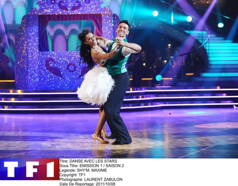 """La chanteuse Shy'm avait pour partenaire le danseur Maxime Dereymez, dans la saison 2 de """"Danse avec les Stars"""""""