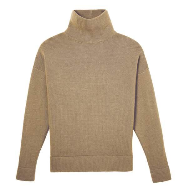 Pull en cachemire et laine, 350 €, Eric Bompard