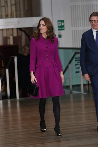 Kate Middleton recycle tout sauf cette très belle paire d'escarpins au Royal Opera House le 16 janvier 2019
