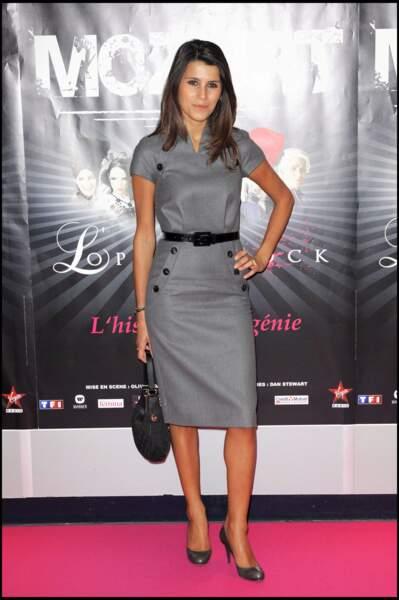 """Karine Ferri à la générale du spectacle """"Mozart, l'Opéra Rock"""" à Paris en 2009"""