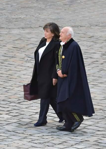 Anne Sinclair et son compagnon l'historien et académicien Pierre Nora