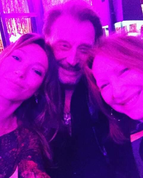 Laura Smet, Johnny et Nathalie Baye