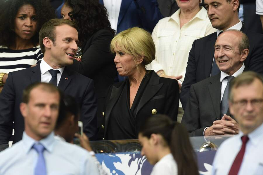 le couple Macron assiste à la Finale de la Coupe de France de foot