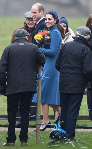 Kate Middleton sa 1e sortie de l'année le 6 janvier 2019