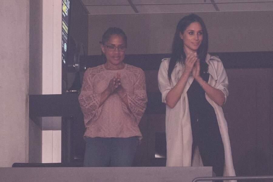 Meghan Markle et sa mère Doria aux Invictus Games