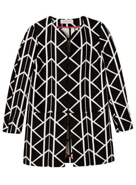 Géométrique, veste Un Jour Ailleurs, 189 € (unjourailleurs.com)