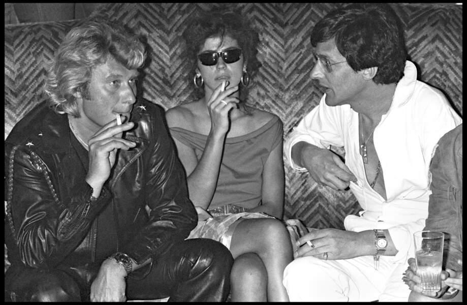 Johnny Hallyday fête ses 37 ans au club Martin's avec Jean-Claude Camus en 1980