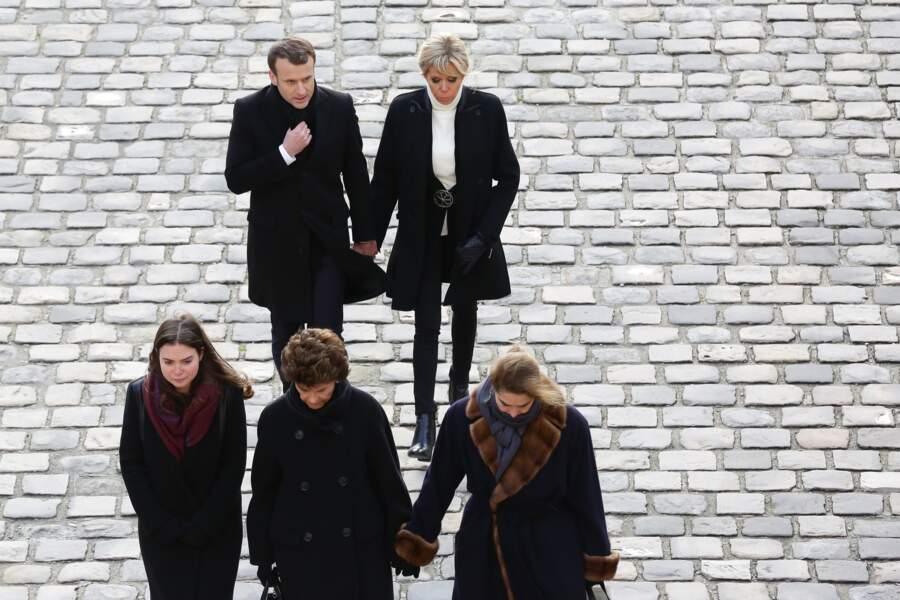 Brigitte et Emmanuel Macron toujours main dans la main
