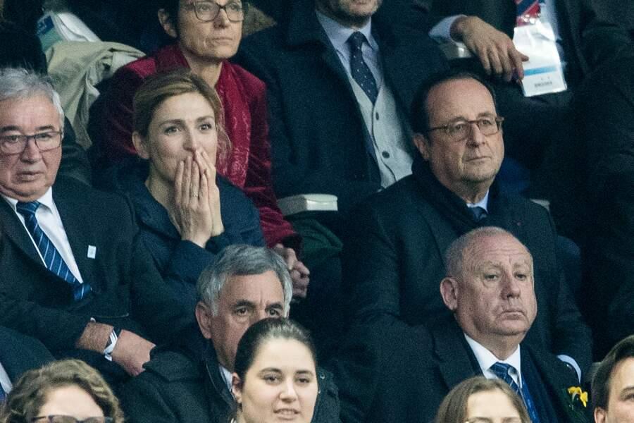 François Hollande et sa compagne Julie Gayet au match France-Angleterre pour le tournoi des six nations de rugby