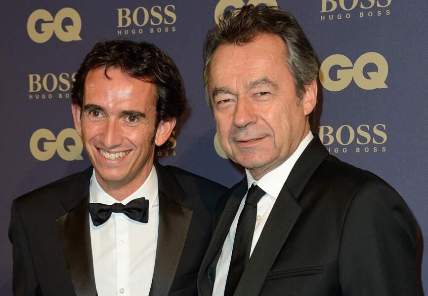 Alexandre Bompard (habillé en Hugo Boss) et Michel Denisot