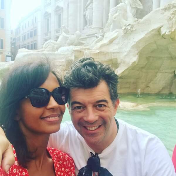 Karine Le Marchand et Stéphane Plaza à Rome, en juin 2018