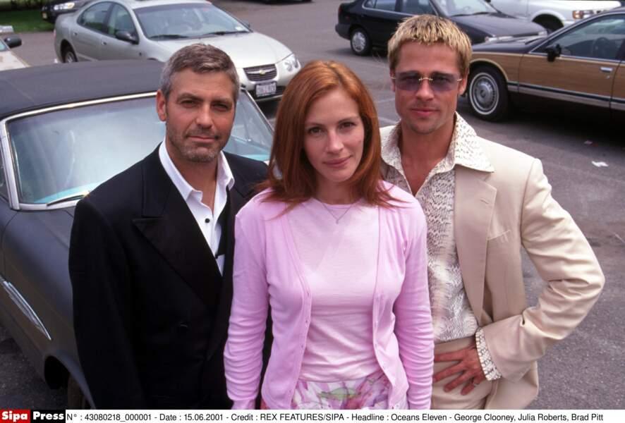 "Avec George Clooney et Brad Pitt dans ""Ocean's Eleven"" en 2001"