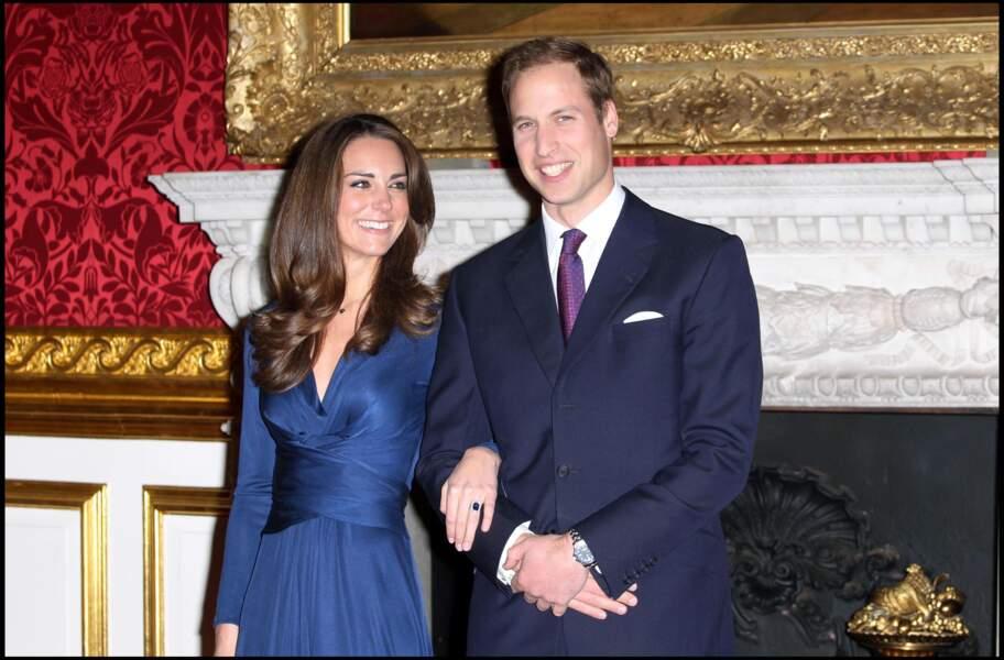 Conférence de presse pour annoncer le mariage de Kate et William en novembre 2010