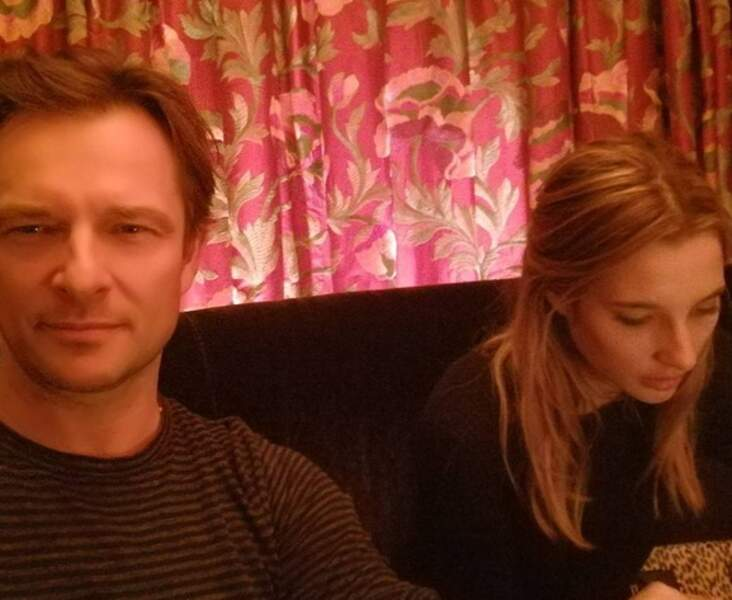 Selfie de David et Ilona, posté sur le compte Instagram du chanteur, le 5 mars dernier.