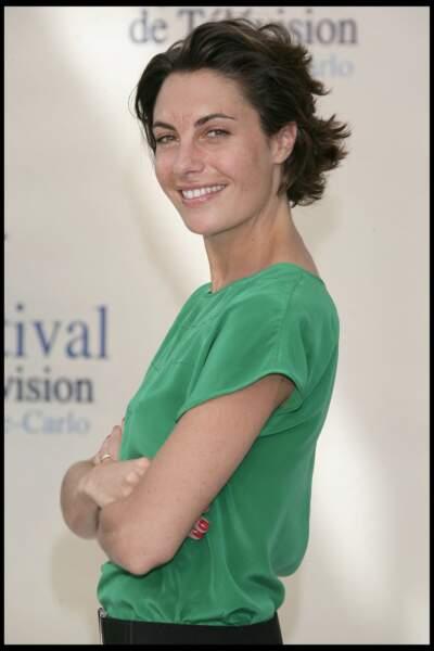 Alessandra Sublet et ses cheveux courts dégradés, au festival de la télévision de Monte Carlo en 2009