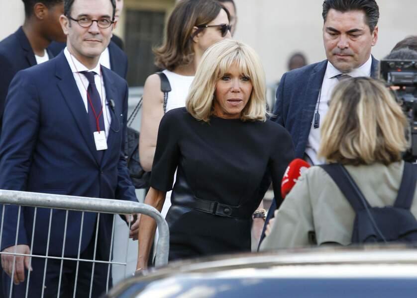 Brigitte Macron lors de la soirée-hommage à Karl Lagerfeld, à Paris, le 20 juin 2019.