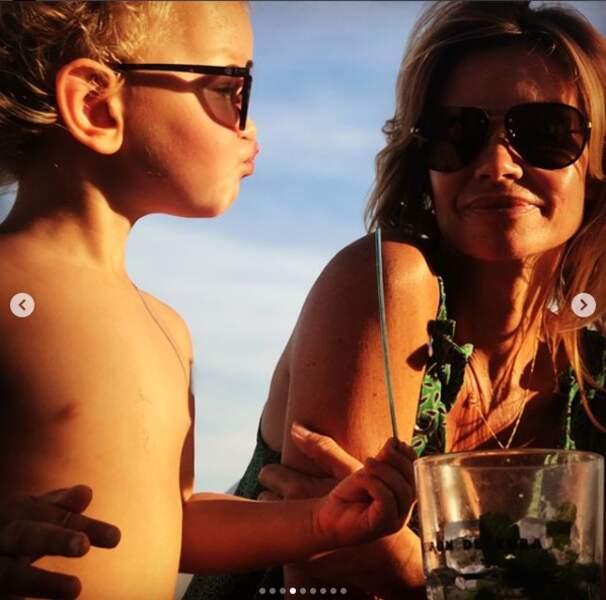 Ingrid Chauvin avec son fils Tom