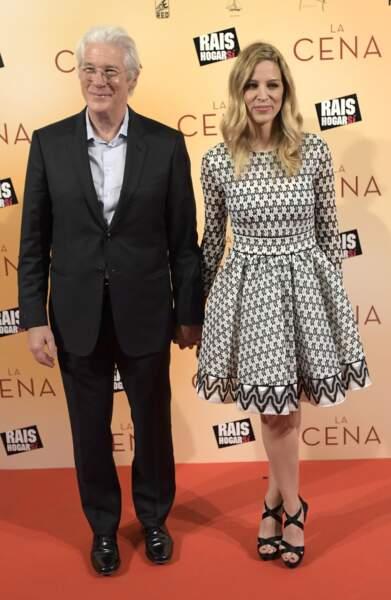 Richard Gere et Alejandra Silva au Capitol à Madrid le 11 decembre 2017