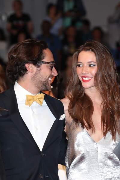 Thomas Hollande et sa compagne Emilie Broussouloux, à Cannes le 27 mai 2017