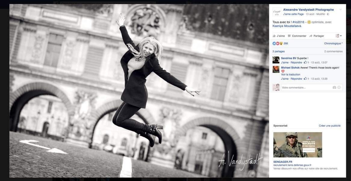 La sublime Kseniya Moustafaeva est aussi gracieuse en ville que sur les praticables