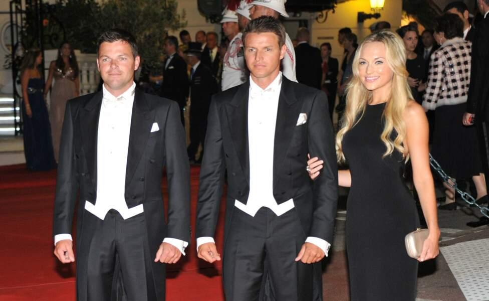 Sean et Gareth Wittstock, lors du dîner de mariage de leur soeur, à Monaco, le 2 juillet 2011
