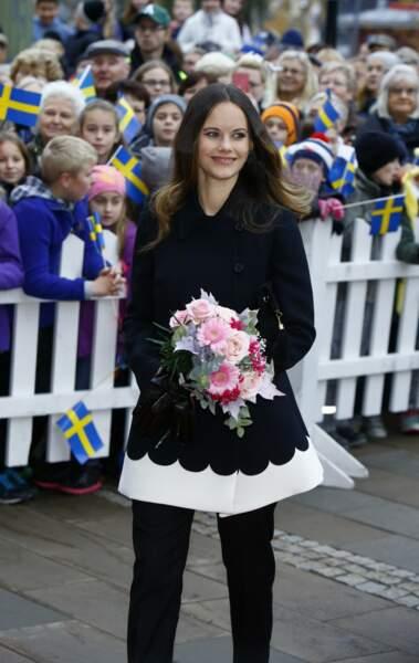 La Princesse Sofia de Suède en visite à Saffle le 21 octobre