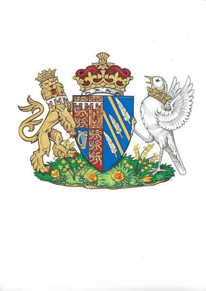 Sur le blason de Meghan, des brins de chimonanthus praecox témoignent déjà de son attachement à Kensington