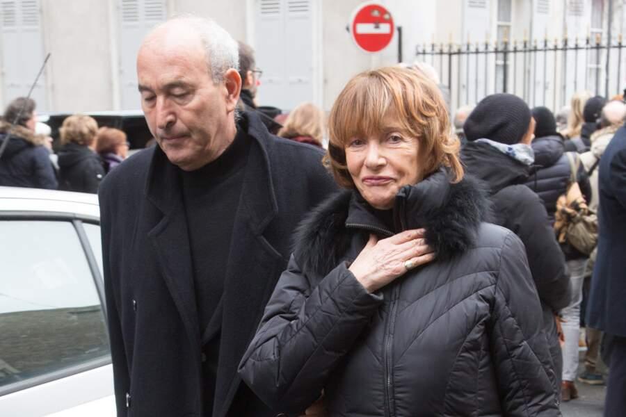 La productrice Eve Ruggieri aux obsèques de Michel Legrand à la Cathédrale orthodoxe Saint-Alexandre-Nevsky à Paris