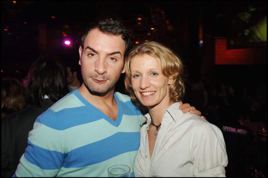 Jean Dujardin et Alexandra Lamy en 2006 après la première du film OSS 117