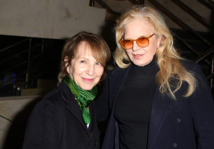 Nathalie Baye et Sylvie Vartan, tout sourire