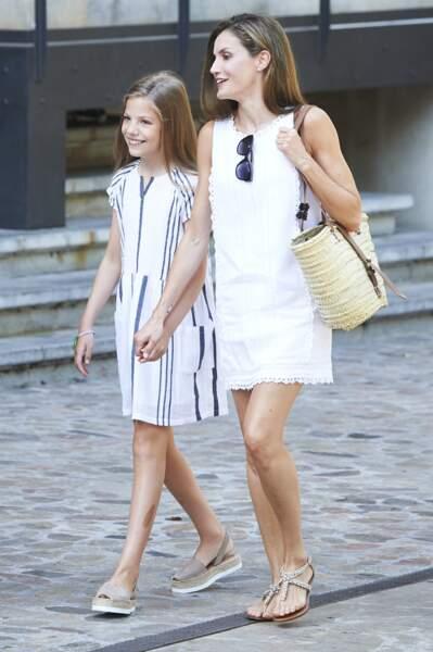 Letizia d'Espagne avec sa fille, la princesse Leonor d'Espagne