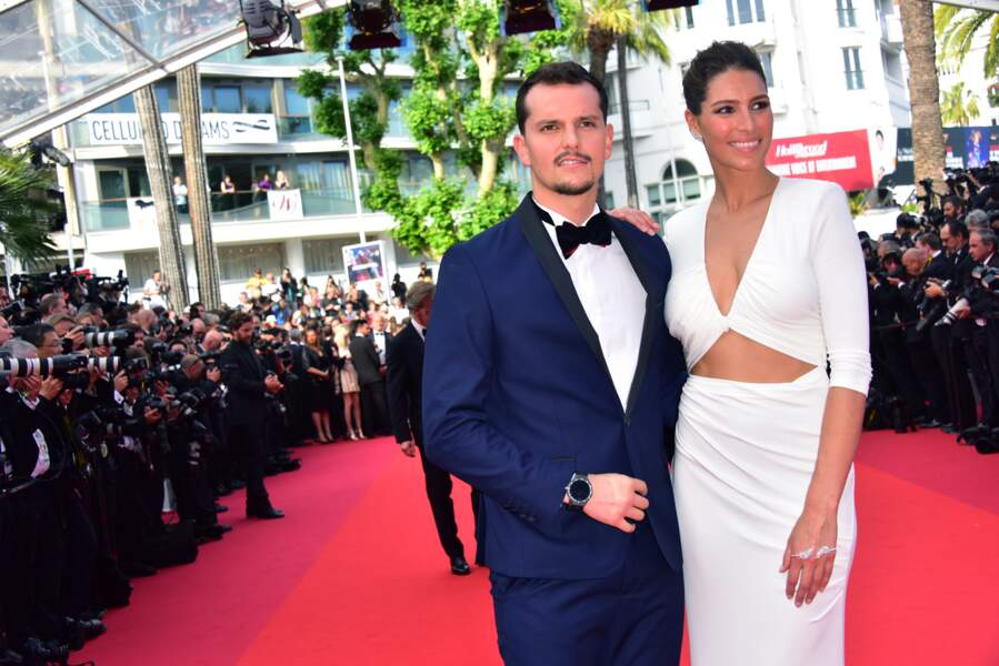 Laury Thilleman et son Top Chef Juan Arbelaez à Cannes le 23 mai 2017