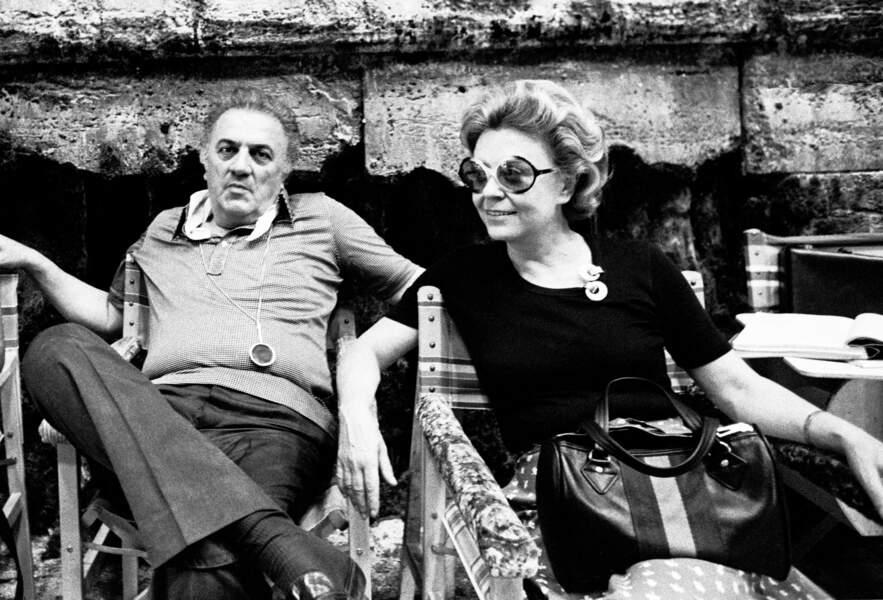 Federico Fellini et Giulietta Masina (1975)