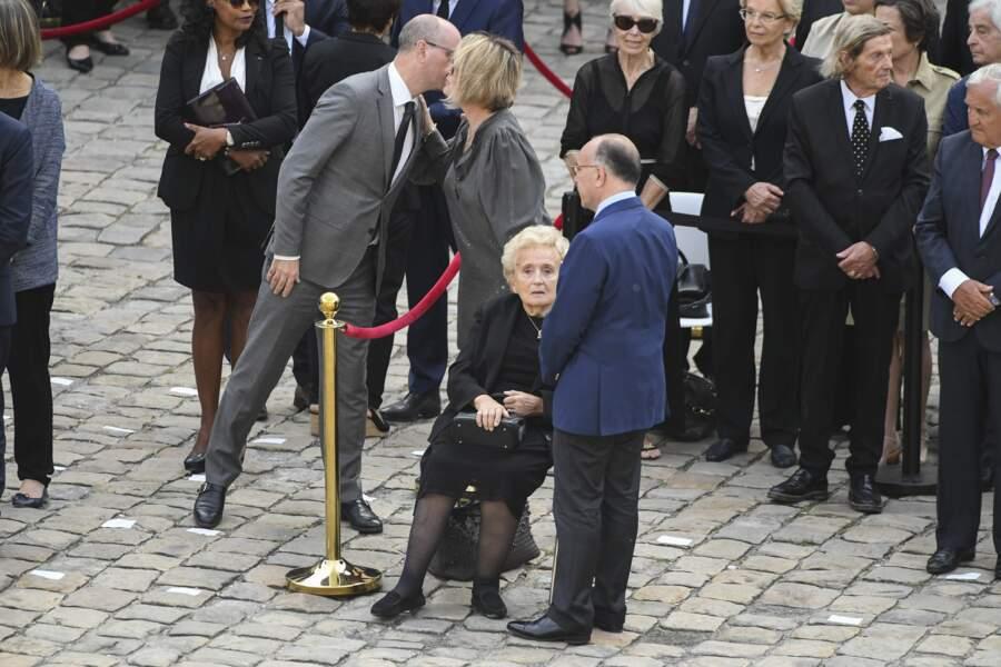Bernadette Chirac assiste à la cérémonie d'hommage à Simone Veil.