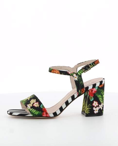 Exotiques, sandales à talon Texto, 59 € (texto-chaussures.com)